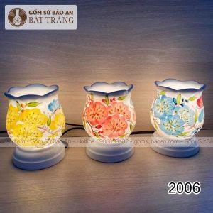 Đèn Xông Tinh Dầu Gốm Hoa Bát Tràng - 2006