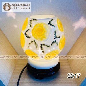 Đèn Xông Tinh Dầu Gốm Hoa Bát Tràng - 2017