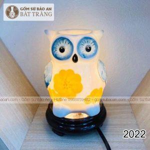 Đèn Xông Tinh Dầu Gốm Sứ Cú Bát Tràng - 2022