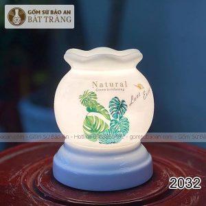 Đèn Xông Tinh Dầu Sứ Thấu Quang Bát Tràng - 2032