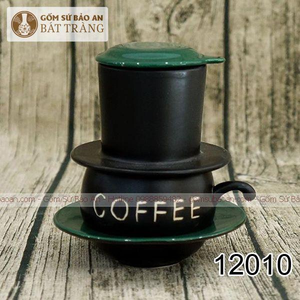 Phin Cafe Sứ Bát Tràng Men Đen - 12010