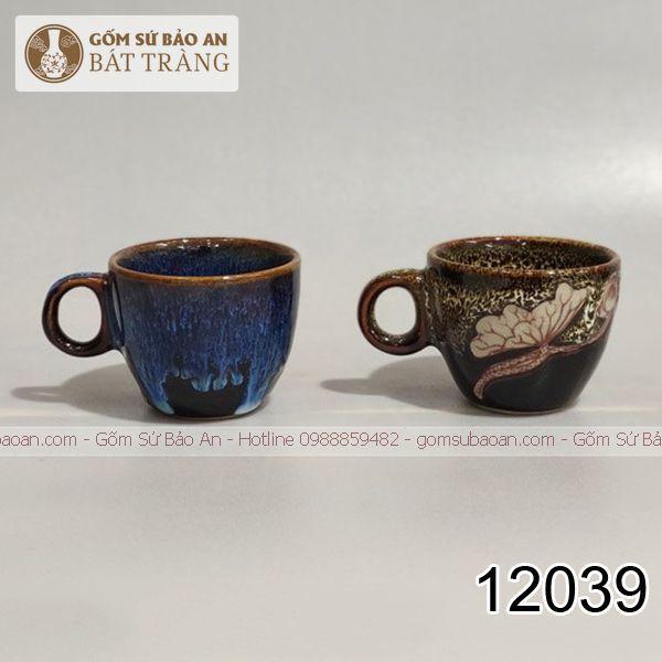 Cốc Espresso Vẽ Sen Bát Tràng - 12039
