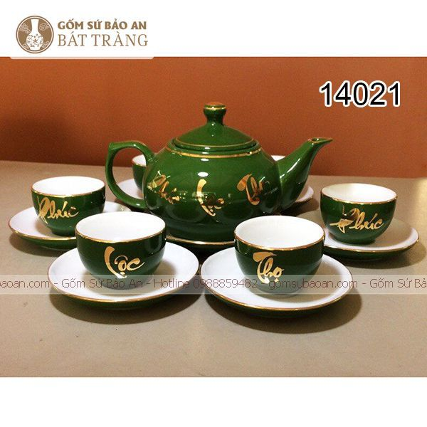 In Logo Lên Ấm Chén Vàng Kim Bát Tràng - 14021