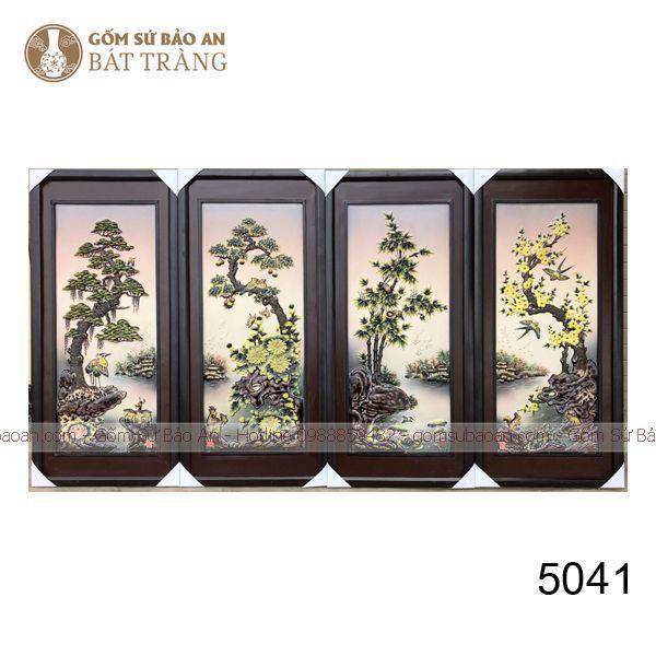 Tranh Sứ Treo Tường Tứ Quý Bát Tràng Số 2 Hàng Kỹ - 5041