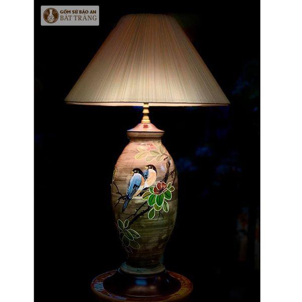 Đèn Ngủ Sứ Chim Bát Tràng - 4080